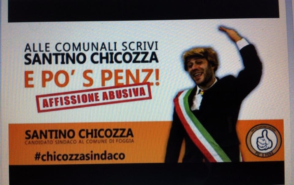 Vota Santino Chicozza... il nuovo candidato sindaco alle prossime Elezioni Comunali